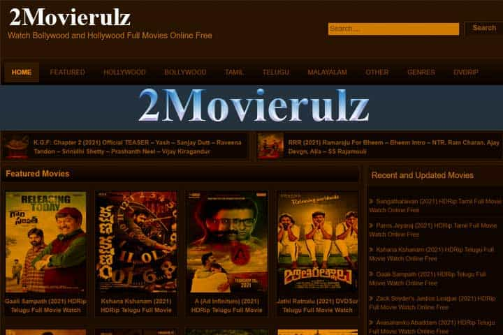 2Movierulz 2021, Download Latest HD Movies From Movierulz2