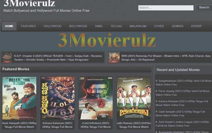 3Movierulz or Movierulz3, Download Telugu And Hindi Movies HD