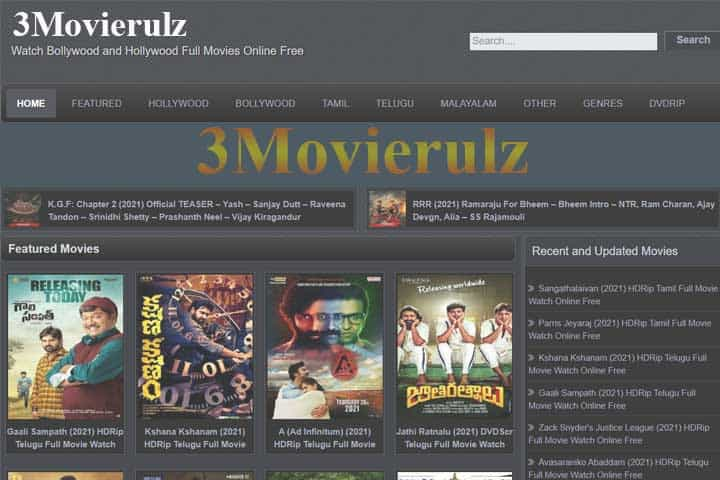3Movierulz or Movierulz3, Download Telugu And Hindi Movies HD