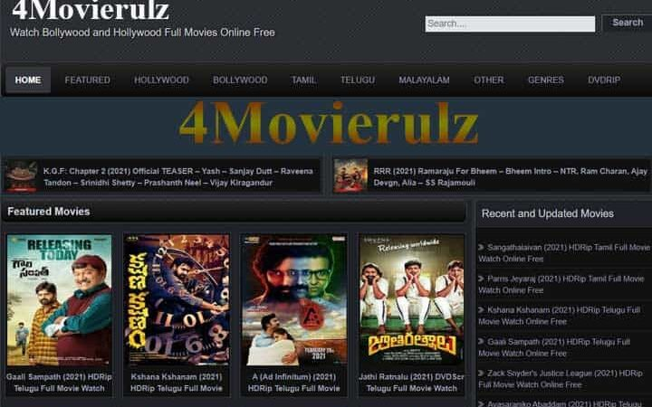 4Movierulz 2021, Download Telugu And Hindi Movies From Movierulz4 Website