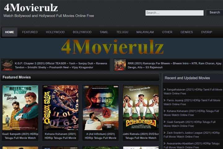 4Movierulz 2021, Download Telugu And Hindi Movies From Movierulz4 Website